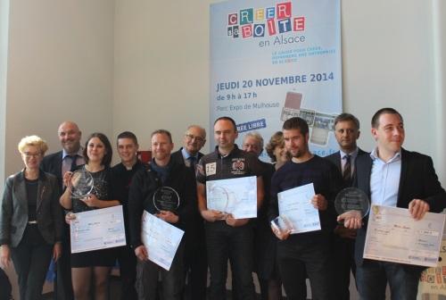 Remise des trophees creation reprise d'entreprises 2014 - Haut-Rhin