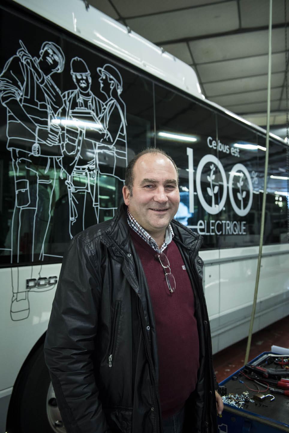 Les bus électriques sont plus fiables, plus confortables et nécessitent  moins de maintenance. © Dorothée Parent